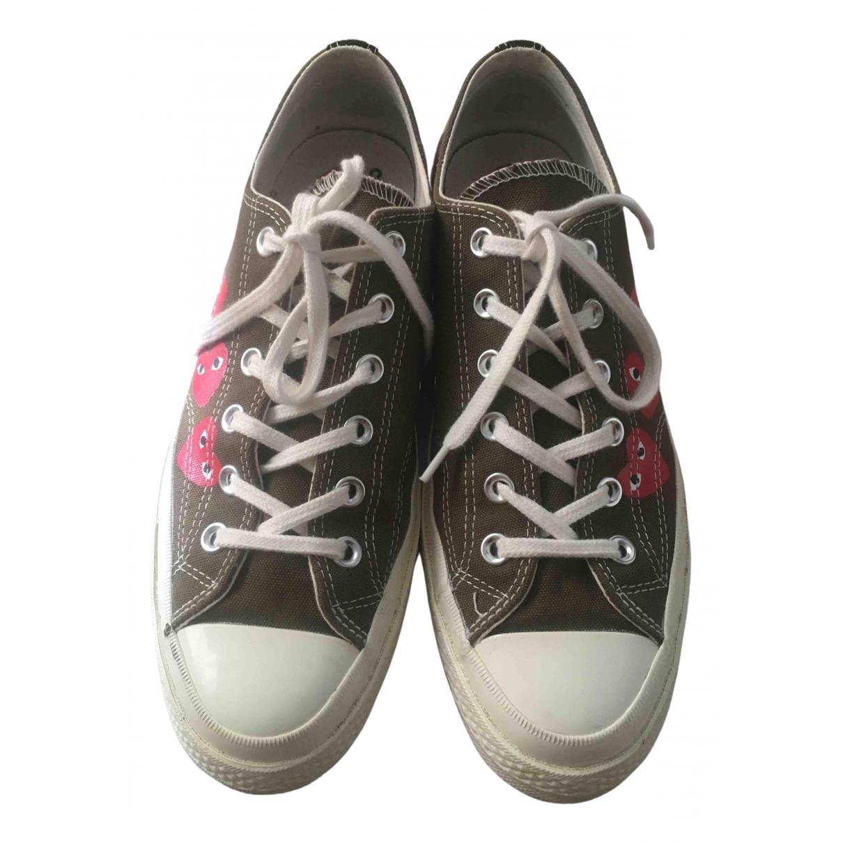 Converse X Play Comme Des Garcons \N Sneakers in  Gruen Leinen