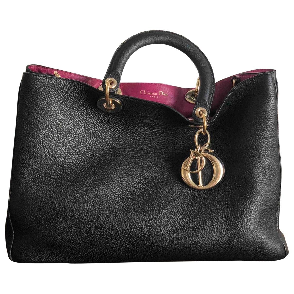 Dior Diorissimo Handtasche in  Schwarz Leder