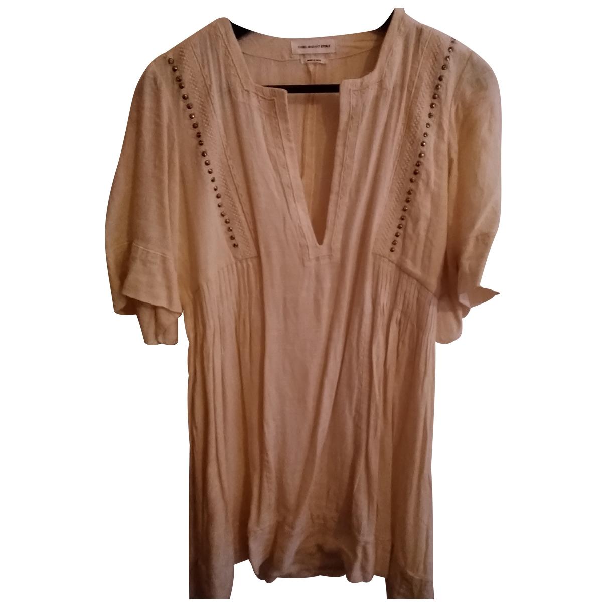 Isabel Marant Etoile \N Kleid in  Beige Baumwolle