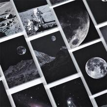 1pack Planet Print Random Memo Pad