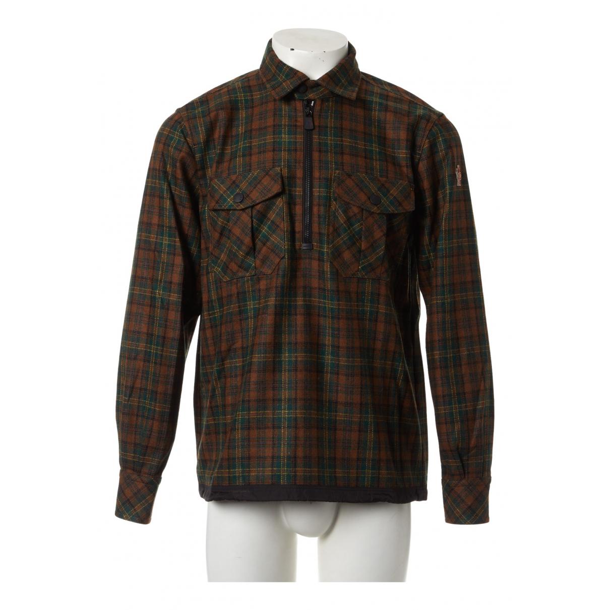 Moncler \N Pullover.Westen.Sweatshirts  in  Gruen Wolle