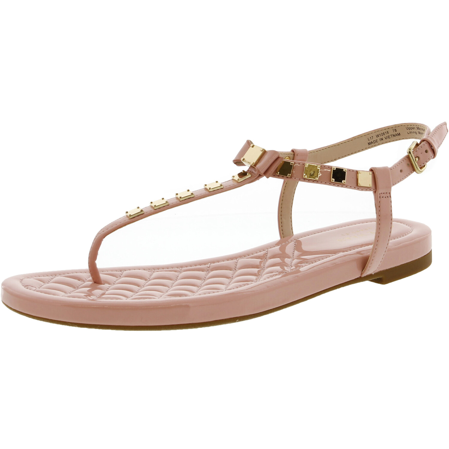 Cole Haan Women's Tali Mini Studded Coral Almond Ankle-High Patent Leather Sandal - 8.5M