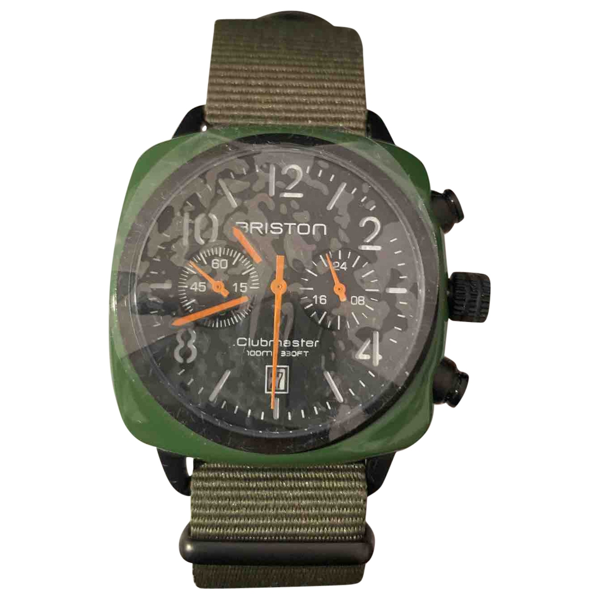 Briston \N Green Steel watch for Men \N