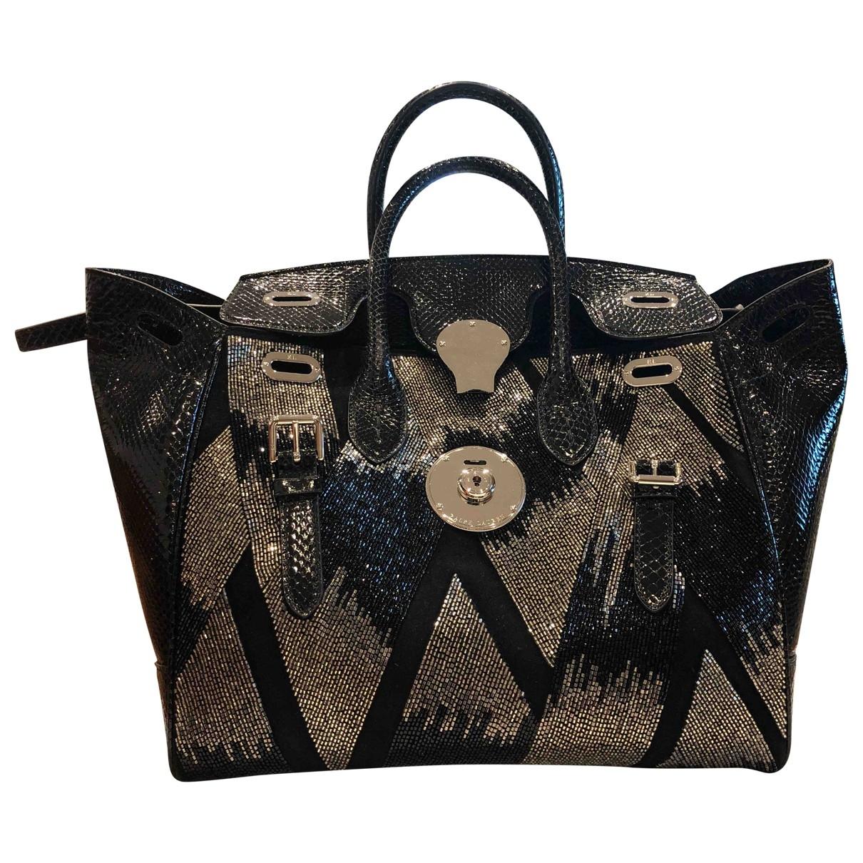 Ralph Lauren Collection \N Handtasche in  Schwarz Exotenleder