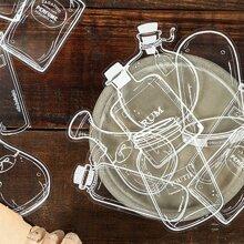 30 Stuecke Aufkleber mit Flasche Muster