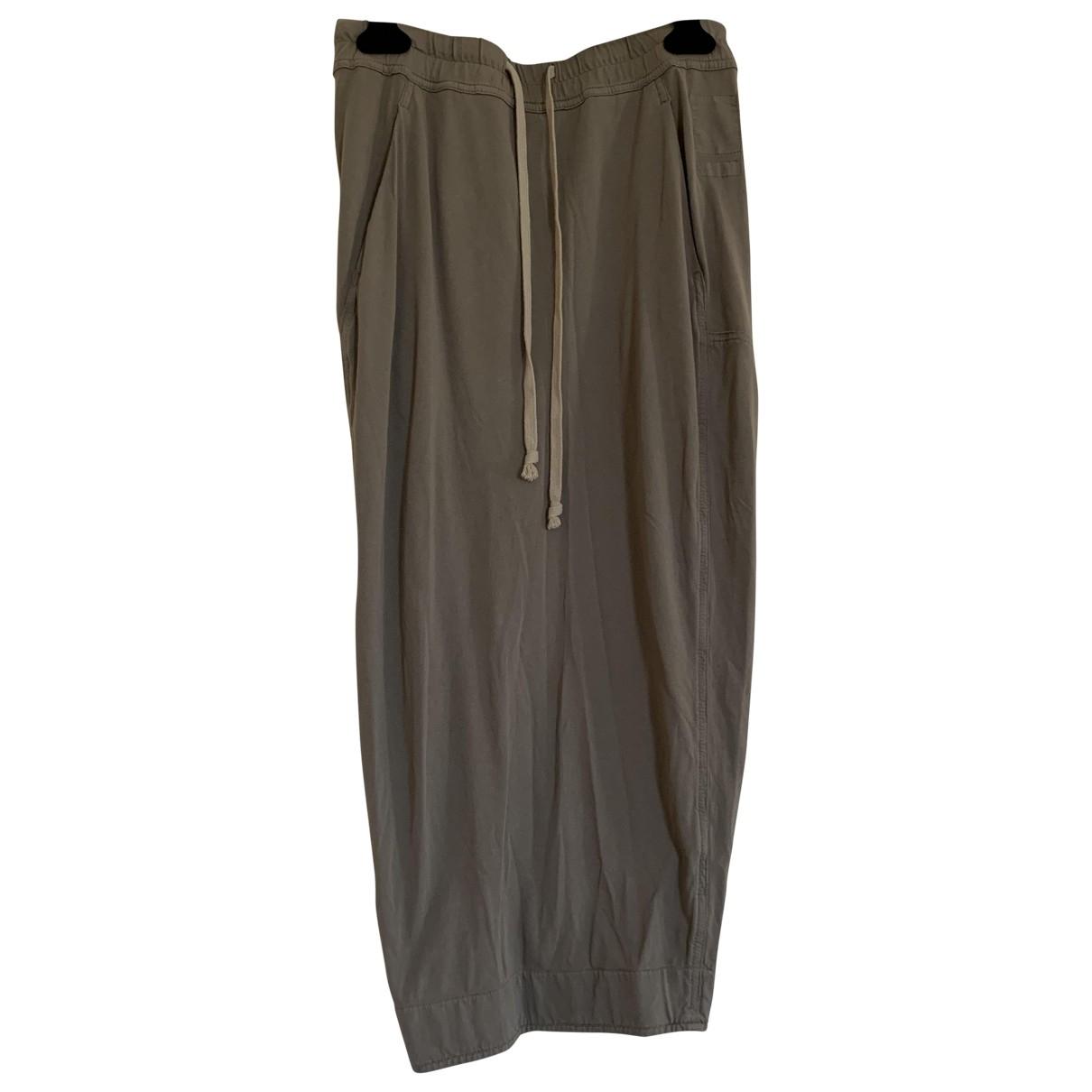Rick Owens Drkshdw - Jupe   pour femme en coton - gris