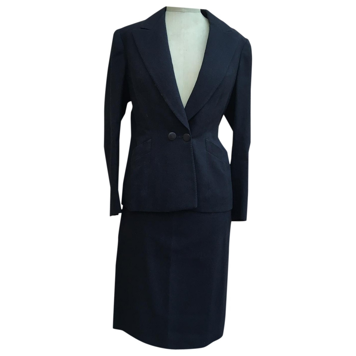 Non Signé / Unsigned \N Black Wool jacket for Women L International