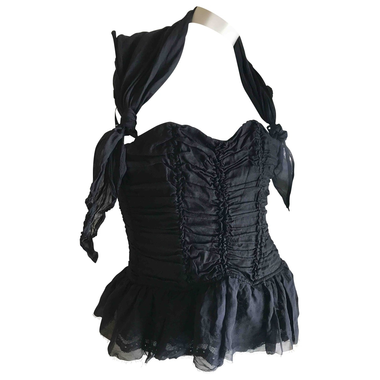 Pinko \N Black Silk  top for Women 40 IT