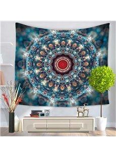 Bohemian Style Mandala Rhinestone Prints Blue Hanging Wall Tapestry