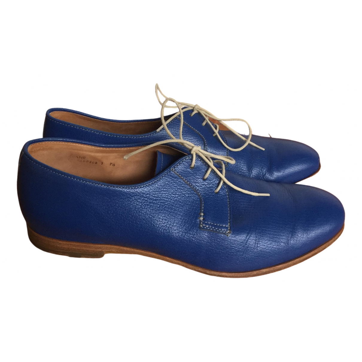 Heschung - Derbies   pour femme en cuir - bleu