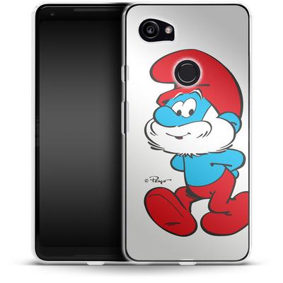 Google Pixel 2 XL Silikon Handyhuelle - Papa Smurf von The Smurfs