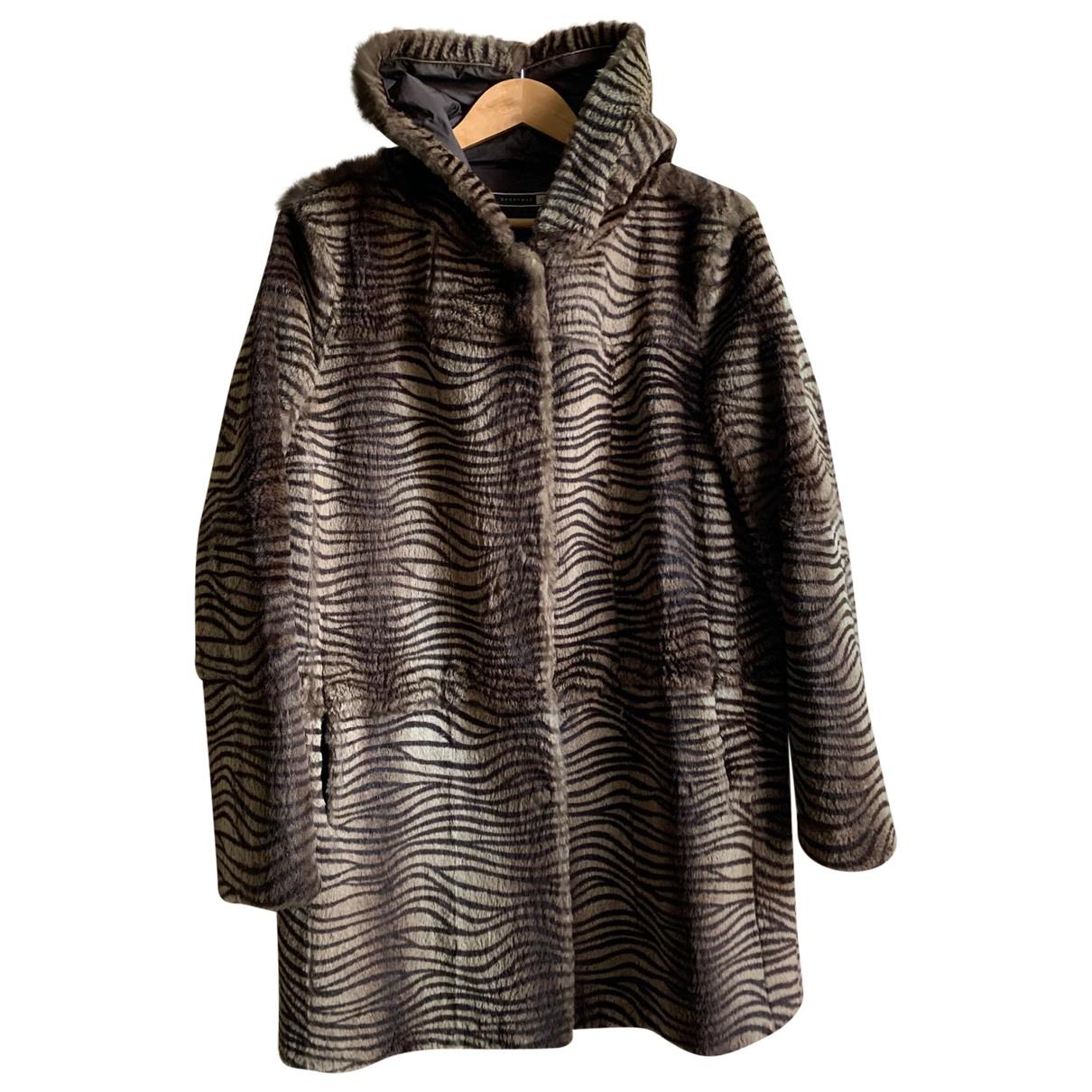 Sport Max - Manteau   pour femme en lapin - marron