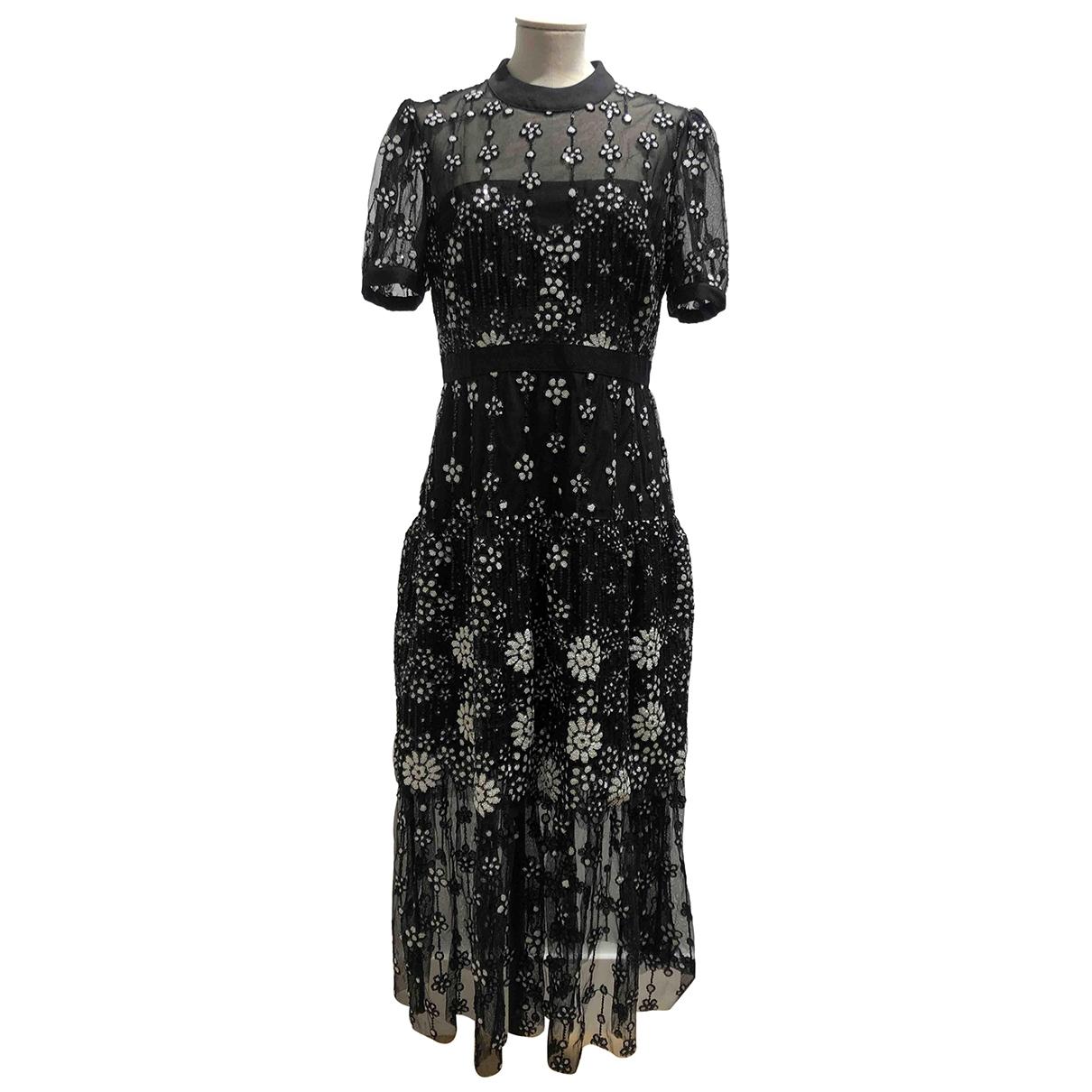Self Portrait \N Black dress for Women 12 UK