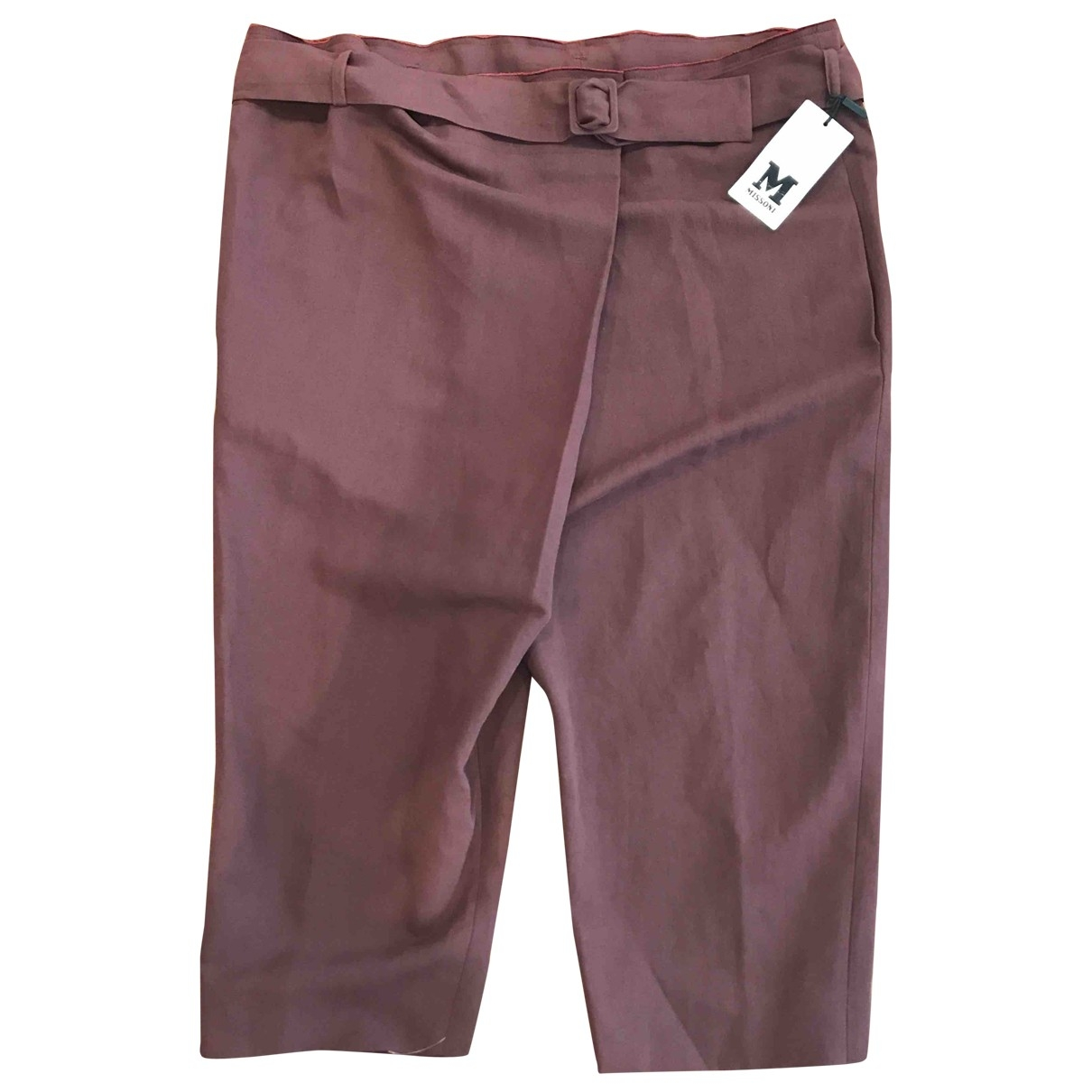 M Missoni - Pantalon   pour femme en coton - bordeaux