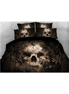 Ancient Skeleton 3D Printed 4-Piece Polyester Bedding Sets/Duvet Covers