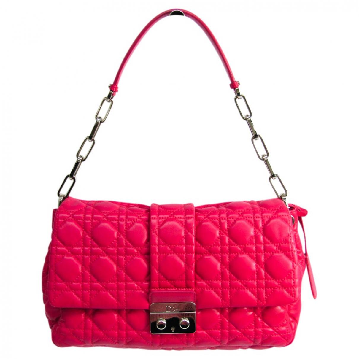 Dior - Sac a main New Lock  pour femme en cuir - rose