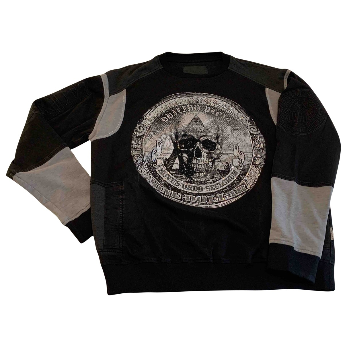Philipp Plein \N Black Cotton Knitwear & Sweatshirts for Men XL International