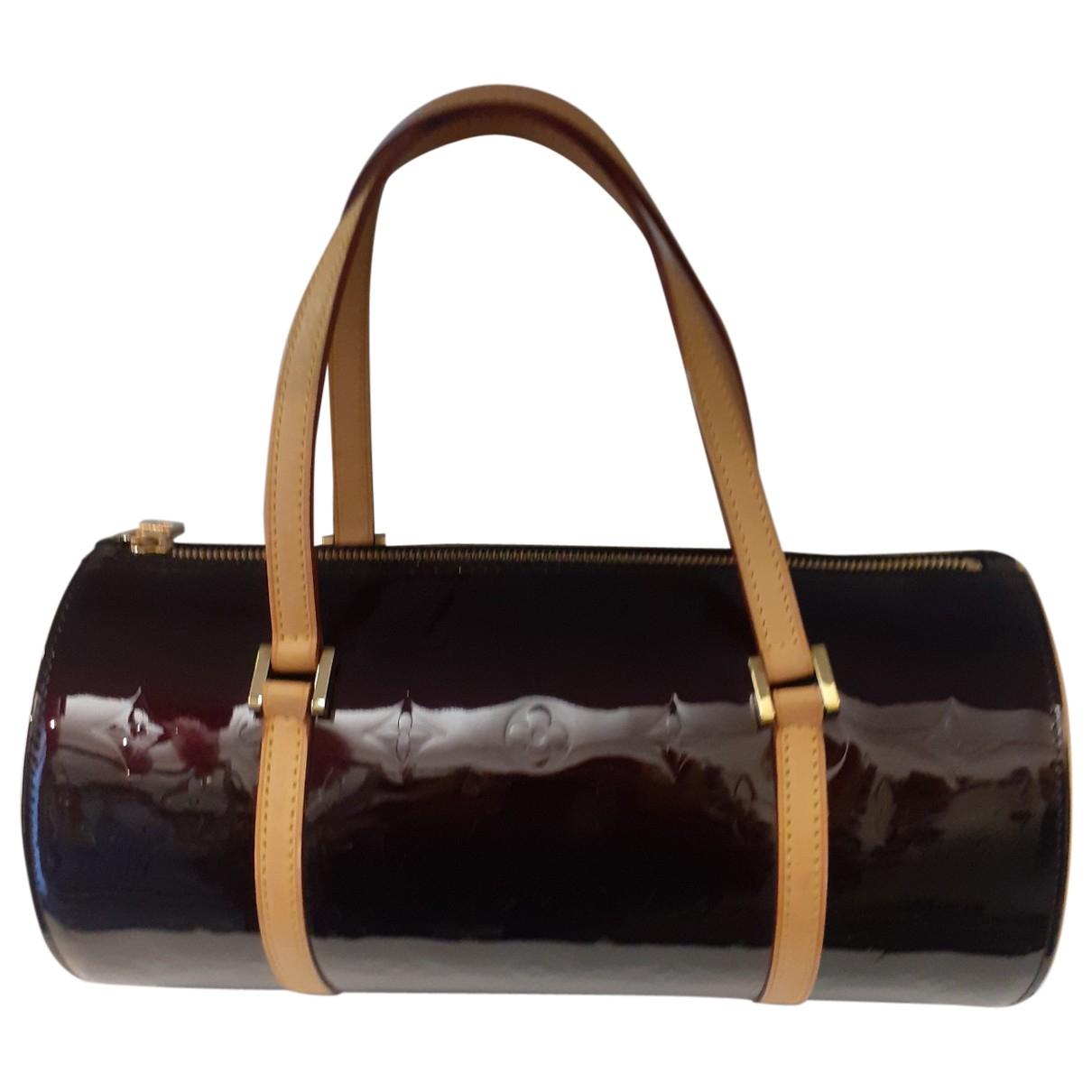 Louis Vuitton Papillon Handtasche in  Bordeauxrot Lackleder