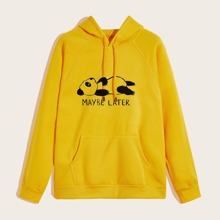 Guys Cartoon Graphic Drawstring Hoodie