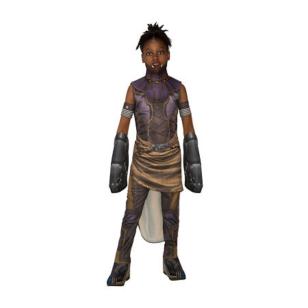 Marvel Black Panther Movie Deluxe Shuri Girls Costume, Large , Multiple Colors