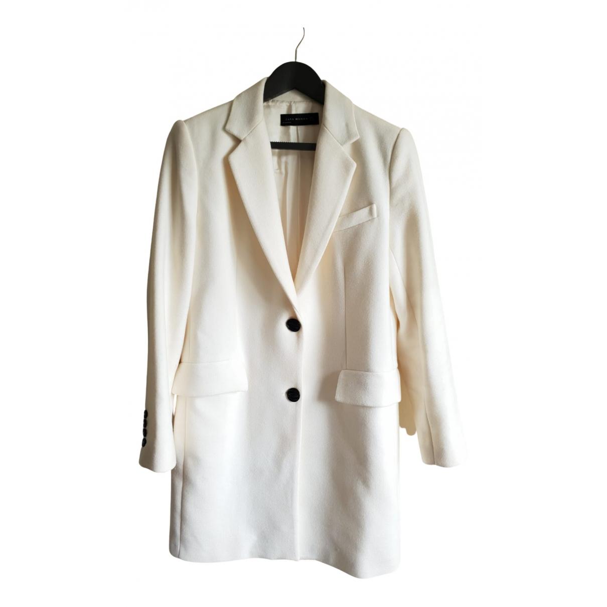 Zara N Ecru Wool coat for Women 38 FR