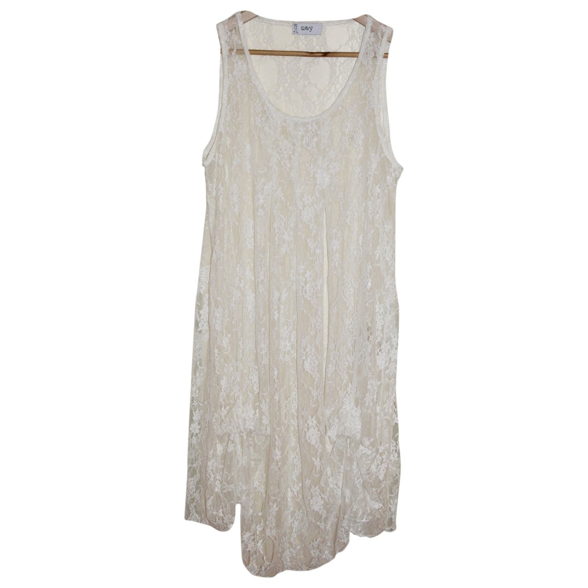 Non Signé / Unsigned \N Ecru Lace dress for Women 50-52 IT
