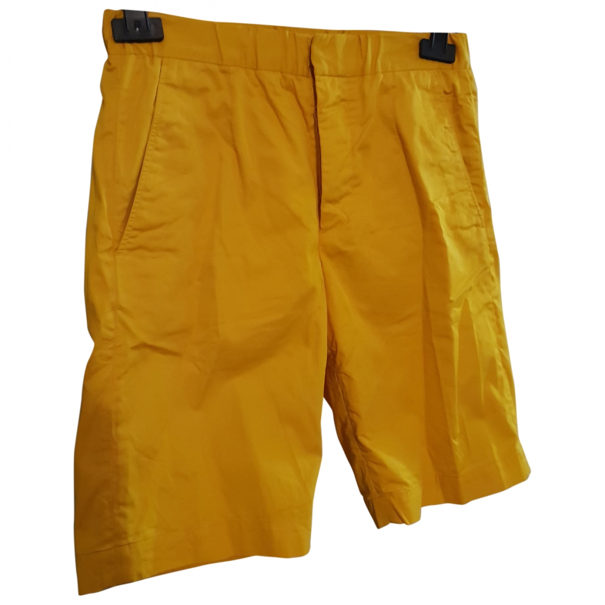 Marni For H&m \N Yellow Cotton Shorts for Men 44 IT