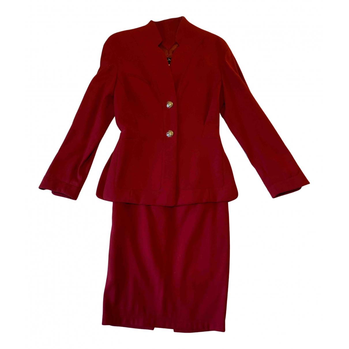 Thierry Mugler - Veste   pour femme en laine - bordeaux