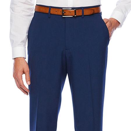 JF J.Ferrar 360 Stretch Slim Fit Flat Front Pant, 38 30, Blue