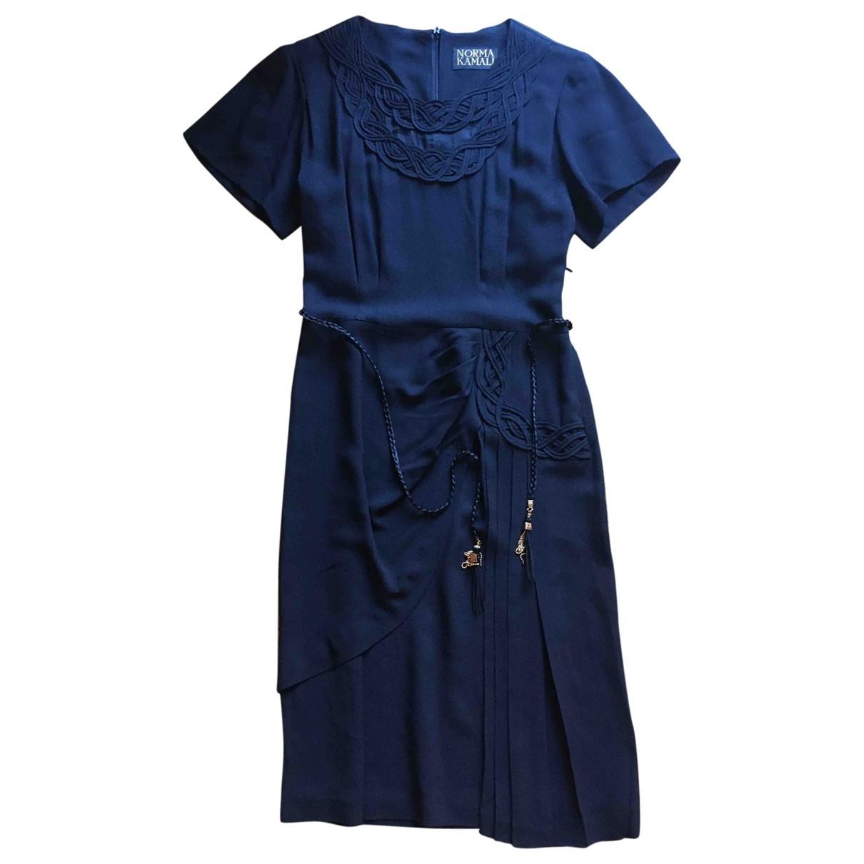 Norma Kamali \N Kleid in  Schwarz Viskose