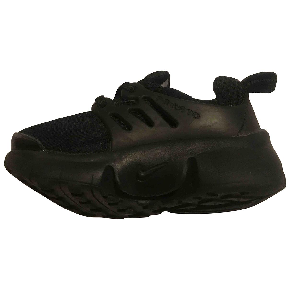 Nike - Baskets Air Presto pour enfant en toile - noir