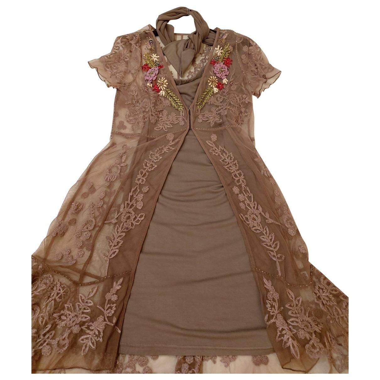 Twin Set - Robe   pour femme - camel
