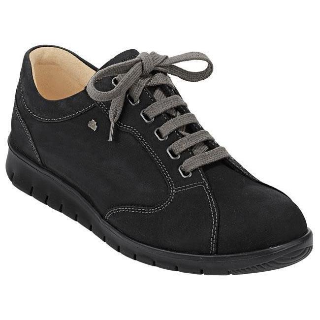 Finn Comfort Chennai Black Leather 10 Uk