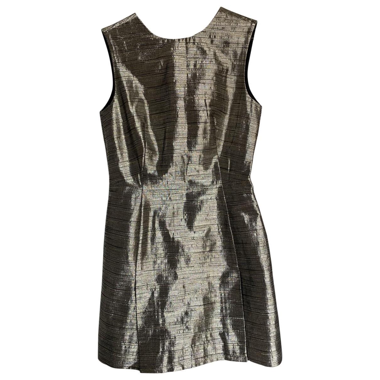 Mcq \N Silver Cotton dress for Women 40 IT