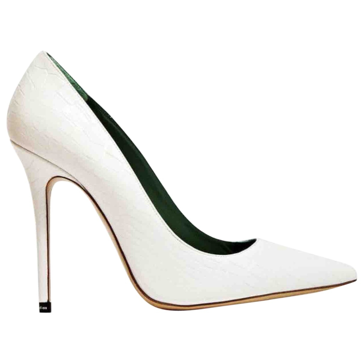Acne Studios \N White Leather Heels for Women 36 EU