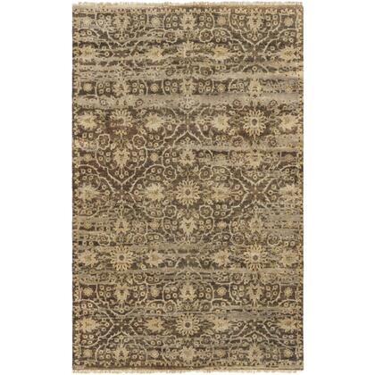 Empress EMS-7010 9' x 13' Rectangle Traditional Rug in Dark Brown  Camel  Taupe