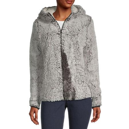 Hfx Fleece Hooded Lightweight Jacket, Small , Black