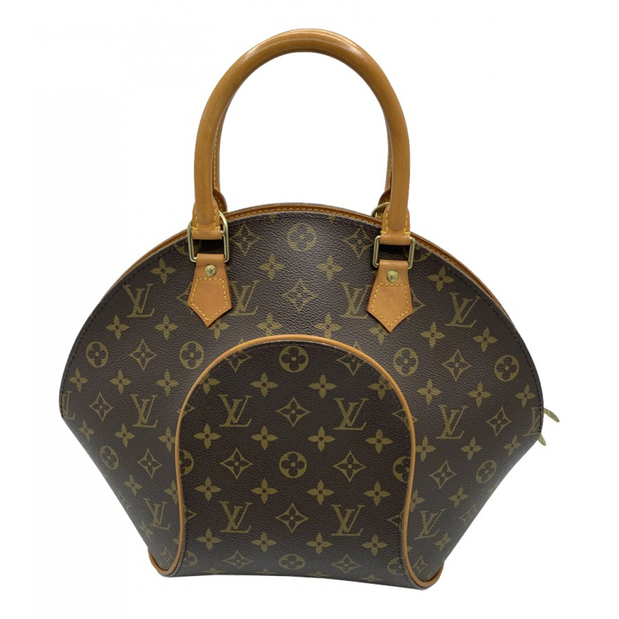 Louis Vuitton Ellipse Handtasche in  Braun Leinen