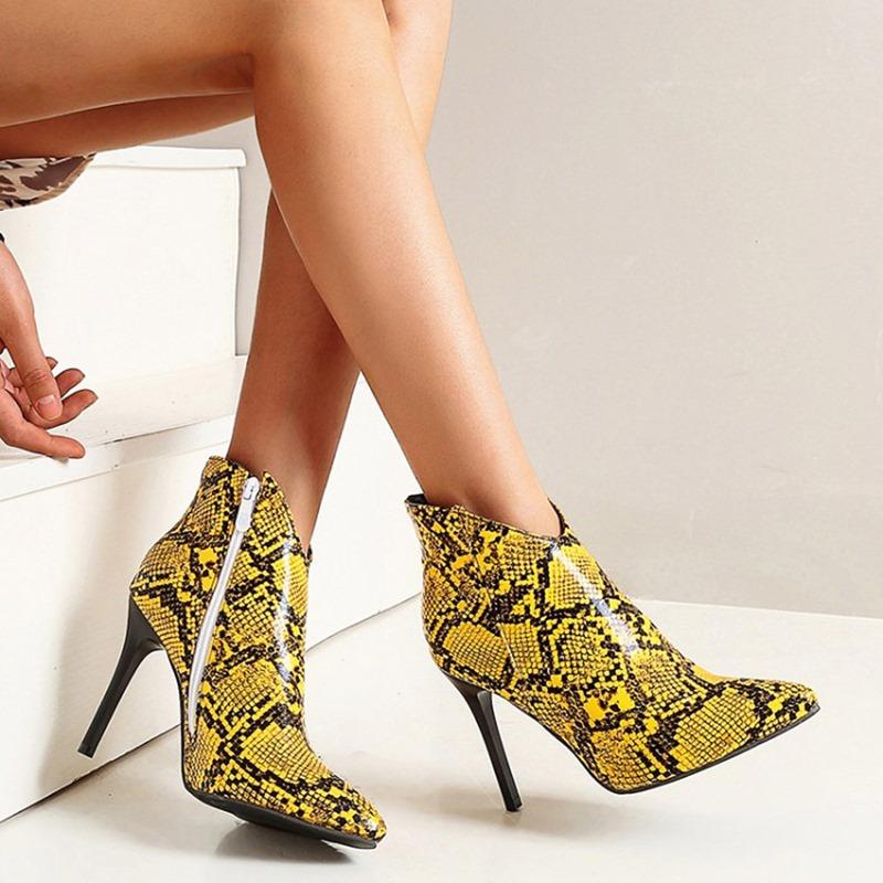 Ericdress Stiletto Heel Color Block Side Zipper Serpentine Boots