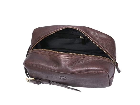 Aaron Vintage Leather Toiletry Bag