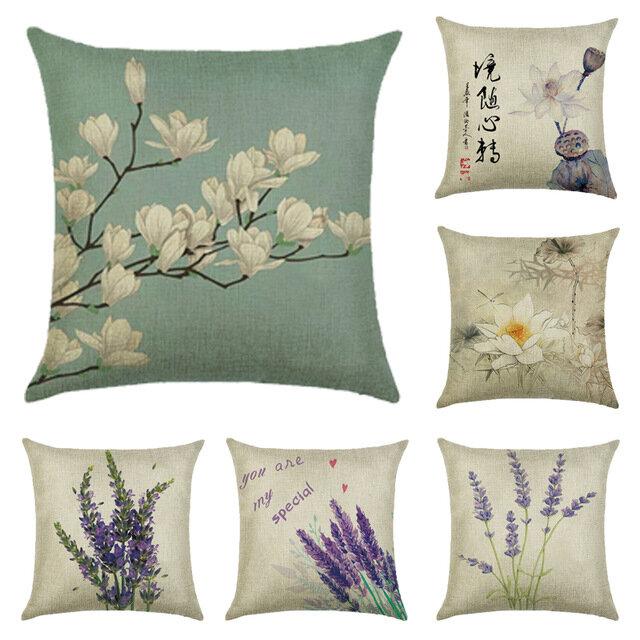 45x45cm Home Decoration Flowers and Plants Design Patterns Cotton Linen Pillow case