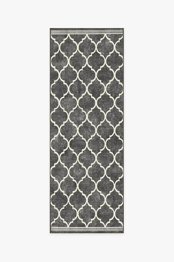 Washable Rug Cover | Terali Black Rug | Stain-Resistant | Ruggable | 2.5'x7'