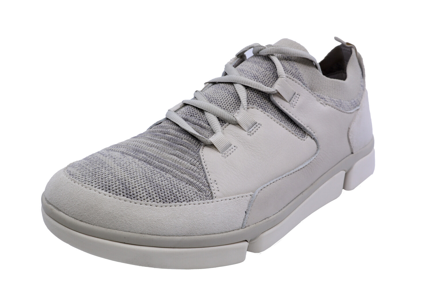 Clarks Men's Tri Verve Free White Combi Ankle-High Leather Sneaker - 11M