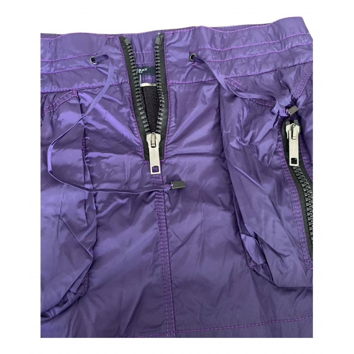 Burberry - Jupe   pour femme - violet