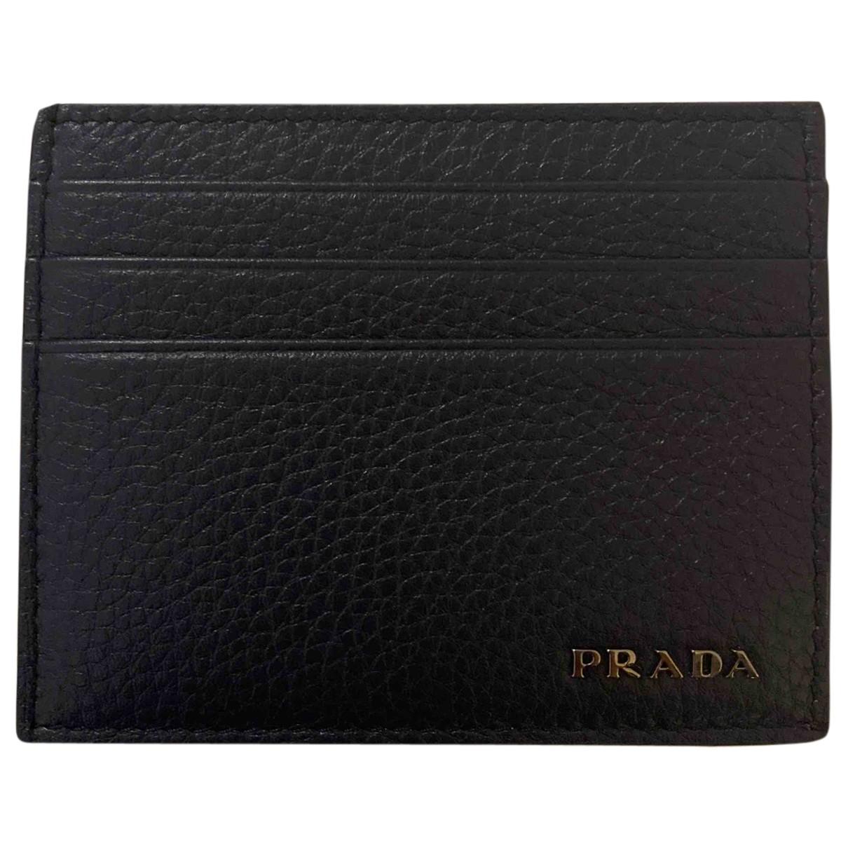 Prada \N Navy Leather Small bag, wallet & cases for Men \N