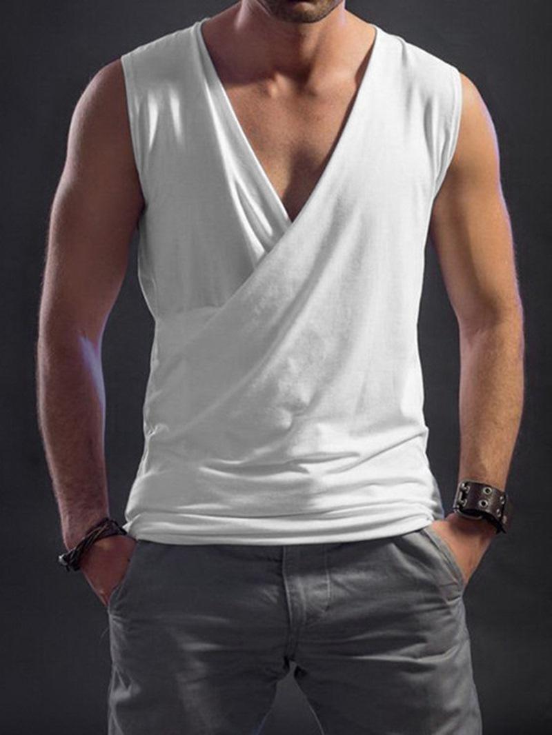 Ericdress Plain Slim V-Neck Summer Vest