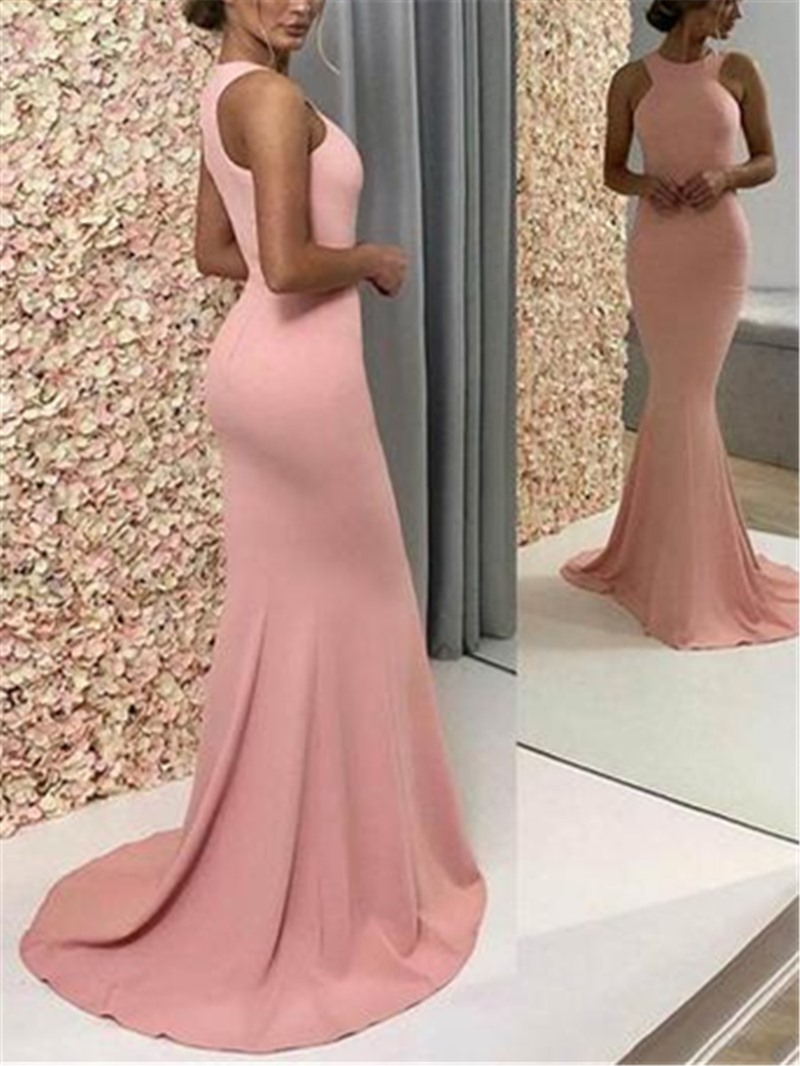 Ericdress Sleeveless Floor-Length Halter Evening Dress