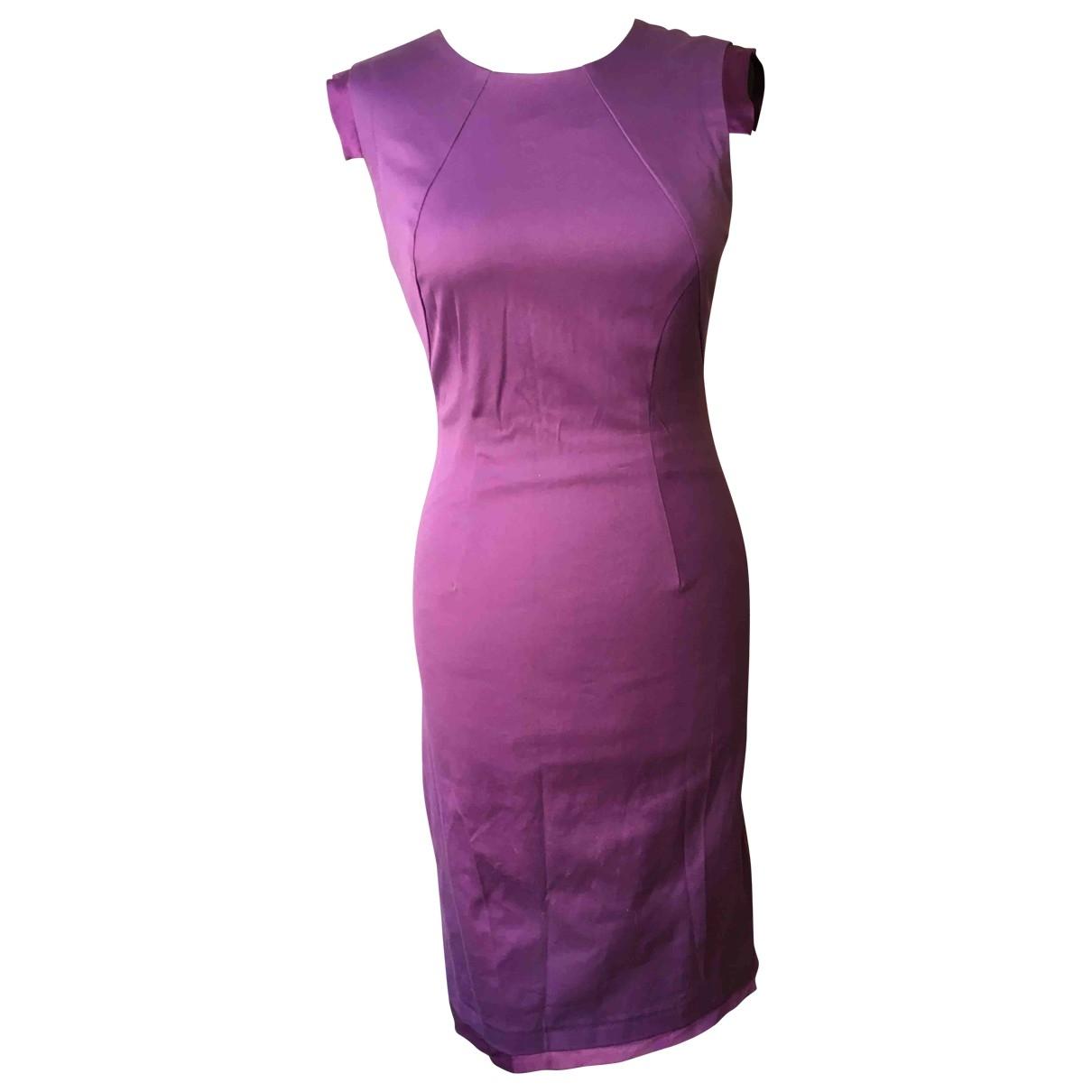 Versace \N Kleid in  Lila Baumwolle
