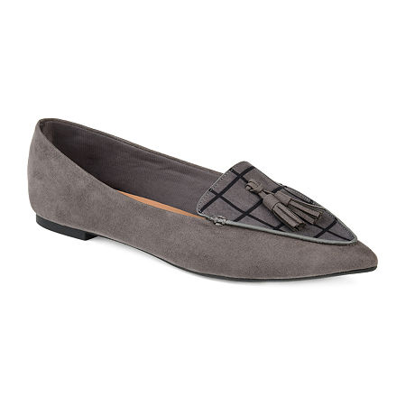 Journee Collection Womens Lindsey Loafers, 8 Medium, Gray