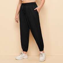 Pantalones deportivos cortos con bolsillos oblicuos - grande